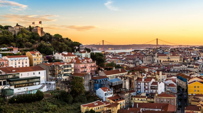 Aerial view of Lisbon - good place for expats